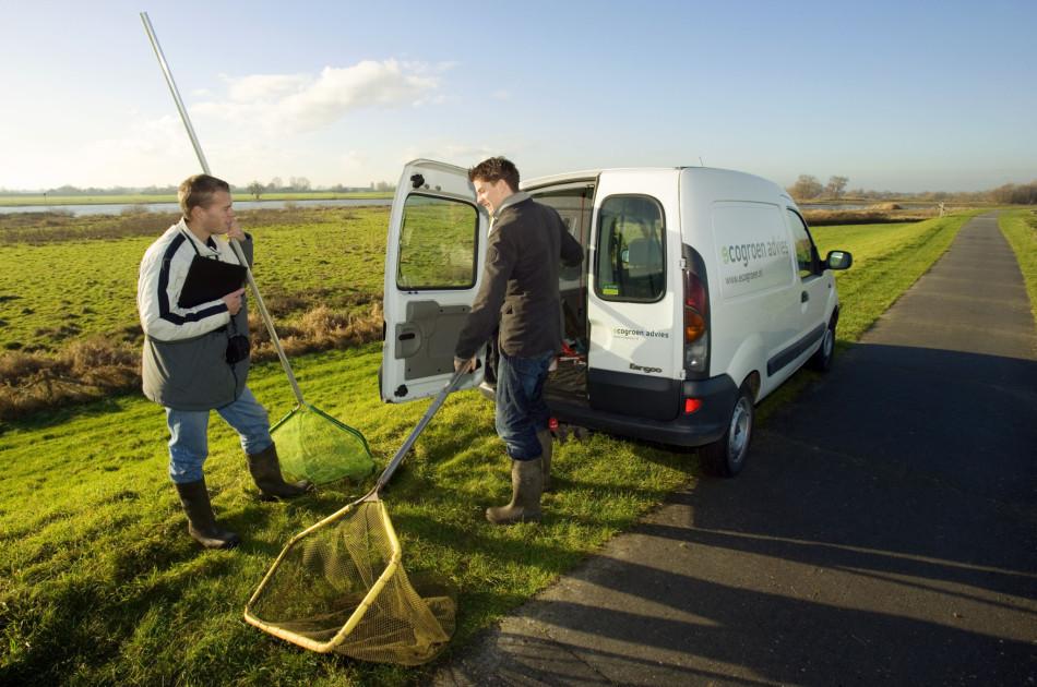 2003: eerste medewerkers Marco en Mike, nog steeds werkzaam bij Ecogroen