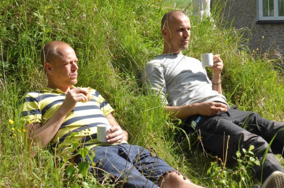 Guus en Etienne: directieoverleg